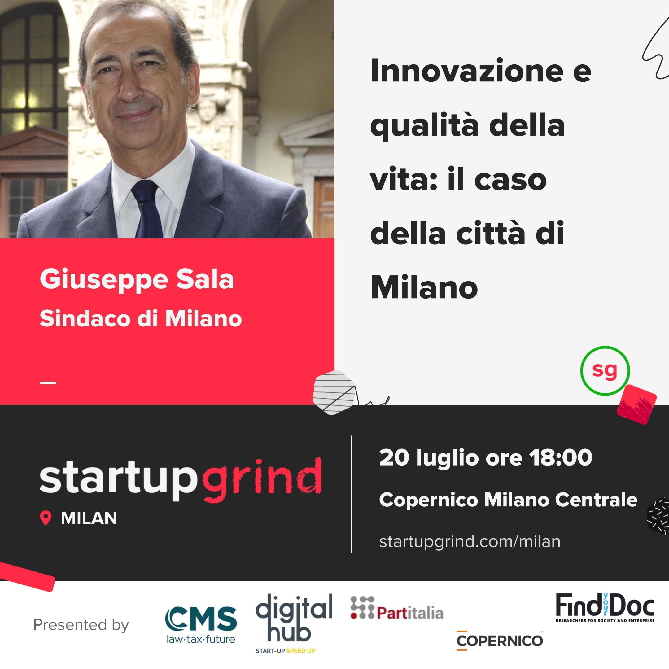 Startup Grind Milano ospita Giuseppe Sala